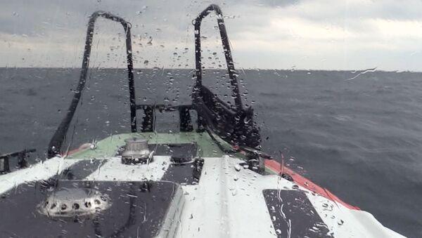 Akcja poszukiwawczo-ratownicza na Morzu Czarnym. Zdjęcie archiwalne - Sputnik Polska