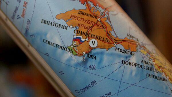 Mapa polityczna Europy, na której Republika Krymu stanowi część Rosji - Sputnik Polska