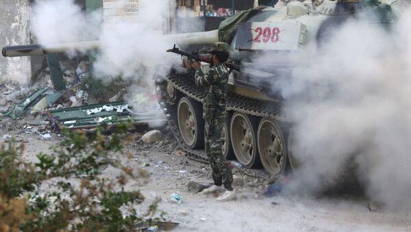 Libia: członkowie libijskiej armii w starciu z Daesh - Sputnik Polska