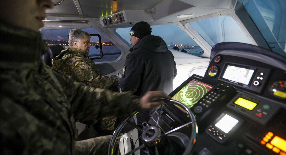 Testy motorówki UMS-1000, w których uczestniczył prezydent Ukrainy Petro Poroszenko