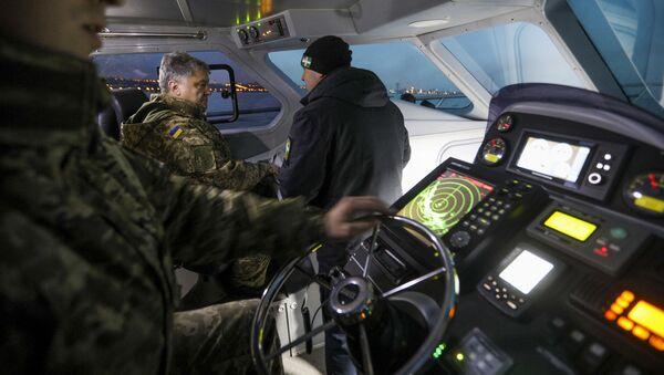 Testy motorówki UMS-1000, w których uczestniczył prezydent Ukrainy Petro Poroszenko - Sputnik Polska