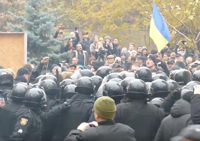 Starcia z policją w Odessie