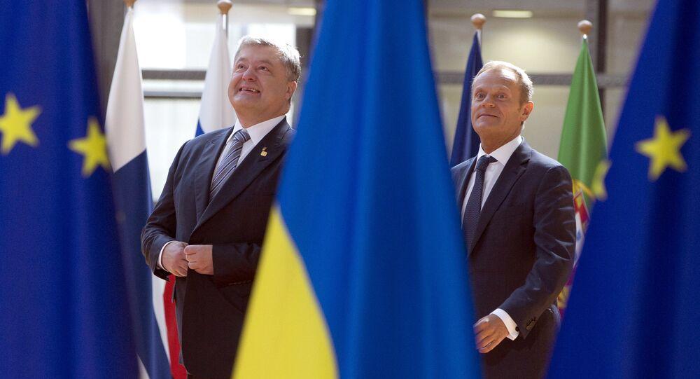 Donald Tusk i Piotr Poroszenko