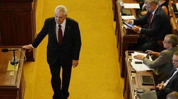Prezydent Czech Miloš Zeman - Sputnik Polska