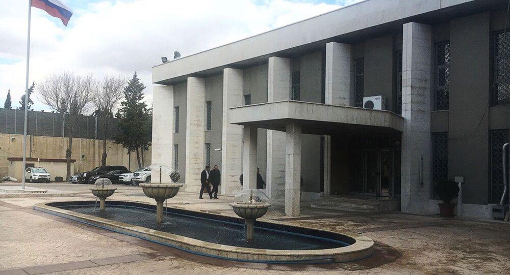 Budynek ambasady Federacji Rosyjskiej w Damaszku