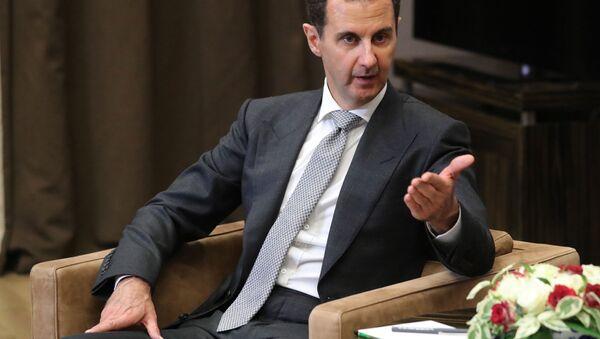 Prezydent Syrii Baszar Hafiz al-Asad na spotkaniu z Władimirem Putinem w Soczi   - Sputnik Polska