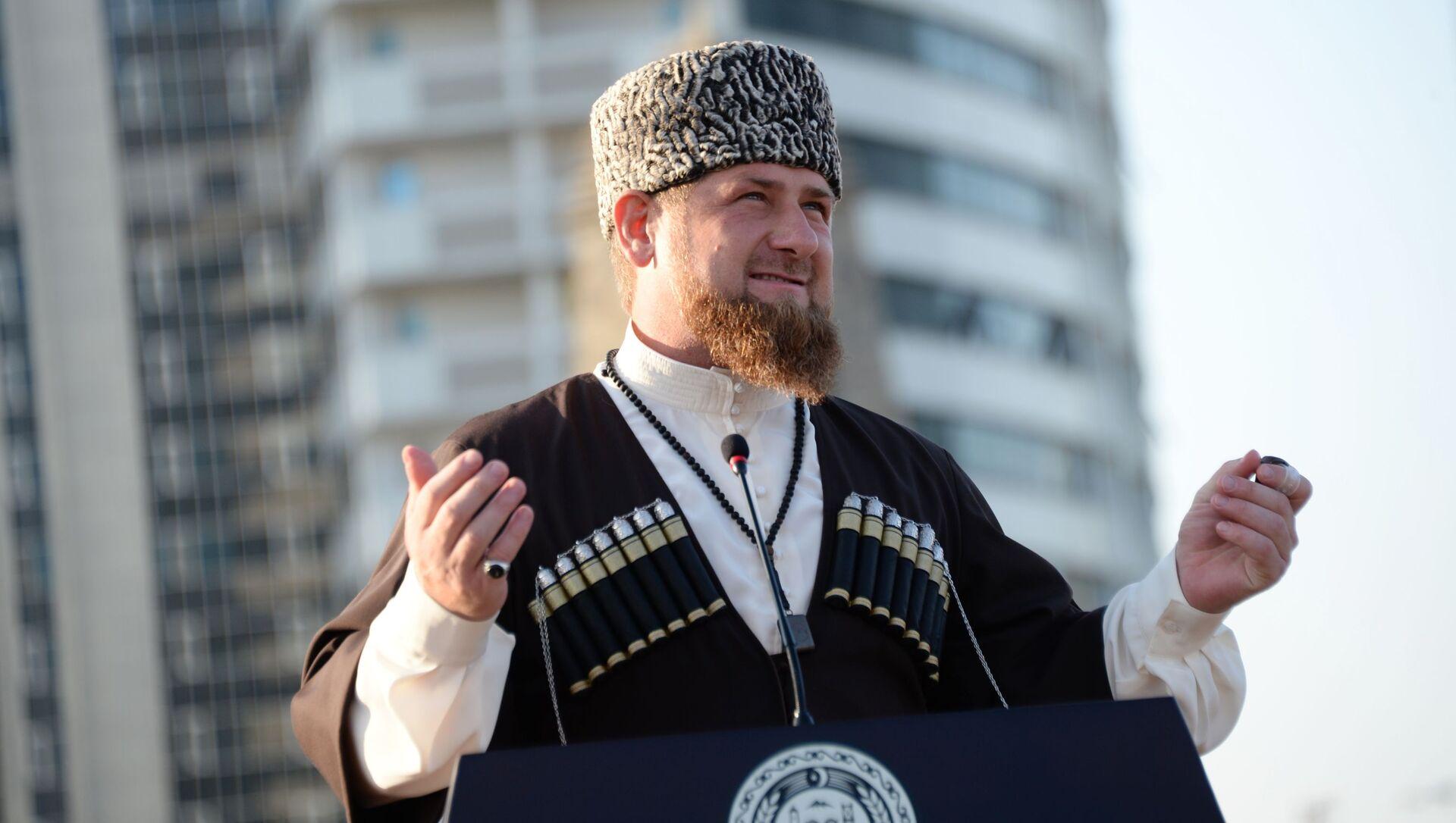 Szef Czeczeńskiej Republiki Ramzan Kadyrow - Sputnik Polska, 1920, 01.04.2021
