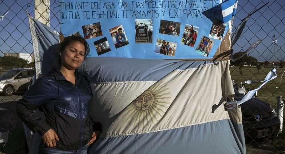Krewna jednego z członków załogi okrętu podwodnego ARA San Juan w Argentynie