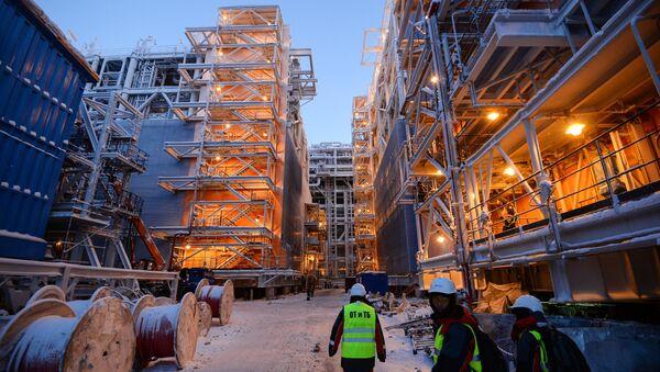Budowa przetwórni gazu LNG na Jamale - Sputnik Polska