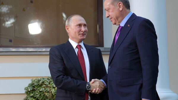 Władimir Putin i Recep Erdogan - Sputnik Polska