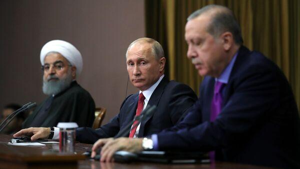 Spotkanie Putina, Rouhani i Erdogana w Soczi - Sputnik Polska