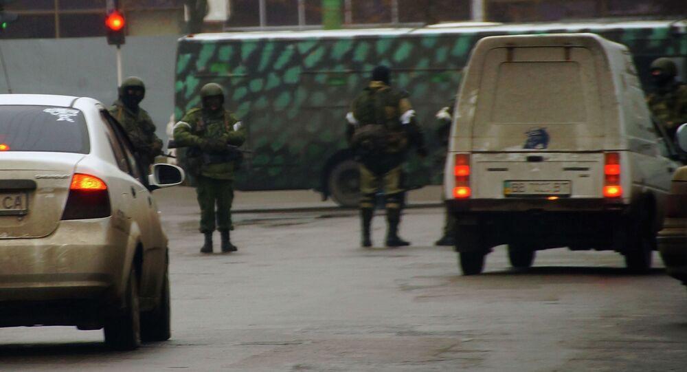 Ludzie w kamuflażu. Ługańsk