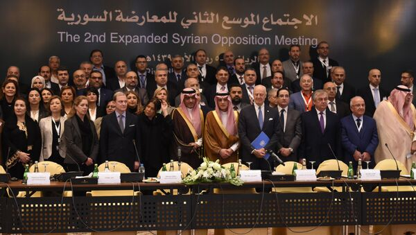 Uczestnicy spotkania syryjskiej opozycji w Rijadzie - Sputnik Polska