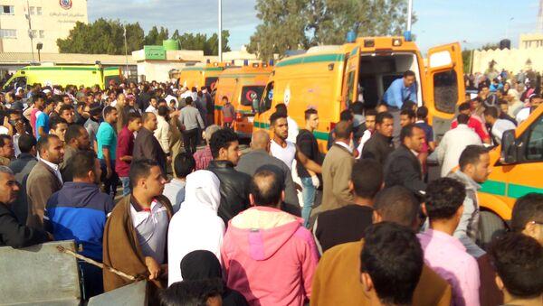 Zamach na meczet niedaleko egipskiego miasta Al-Arisz na północnym wybrzeżu półwyspu Synaj - Sputnik Polska