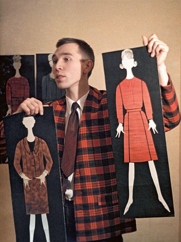 Projektant mody Wiaczesław Zajcew. 1964 rok. - Sputnik Polska