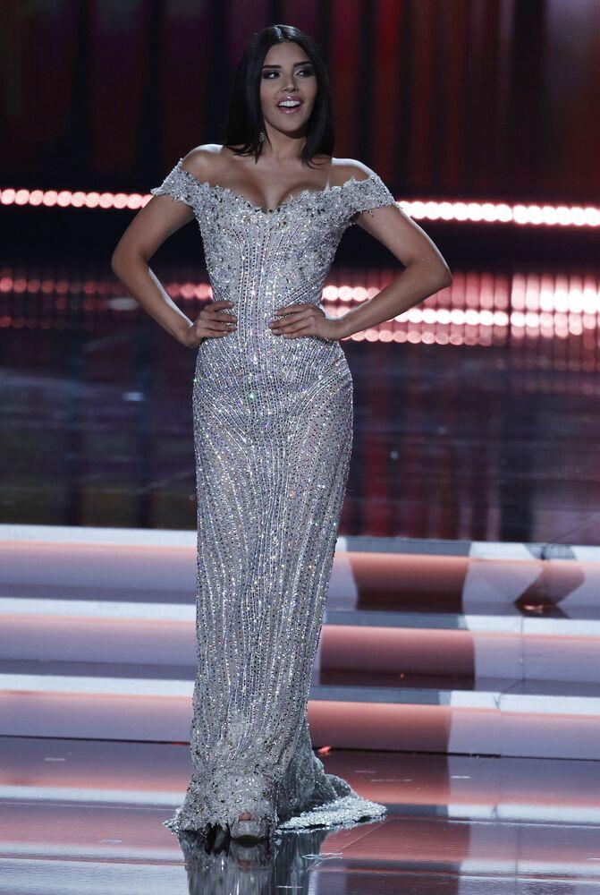 Miss Kolumbii podczas konkursu piękności Miss Universe-2017 w Las Vegas