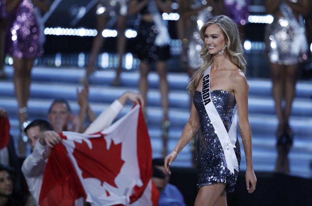 Miss Kanady Lauren Howe podczas konkursu piękności Miss Universe-2017 w Las Vegas