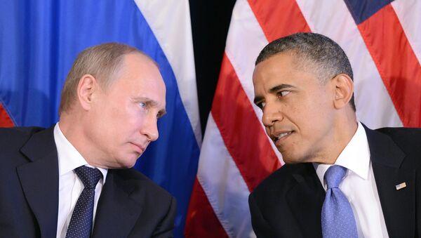 Prezydent Wladimir Putin i Prezydent Barack Obama - Sputnik Polska