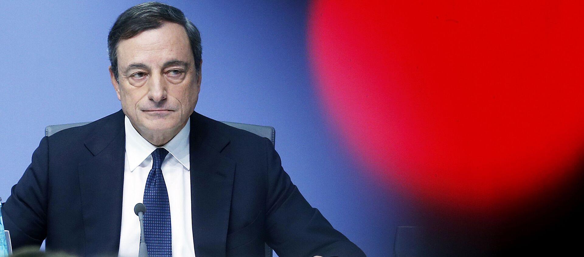 Prezes Europejskiego Banku Centralnego Mario Draghi - Sputnik Polska, 1920, 08.04.2021