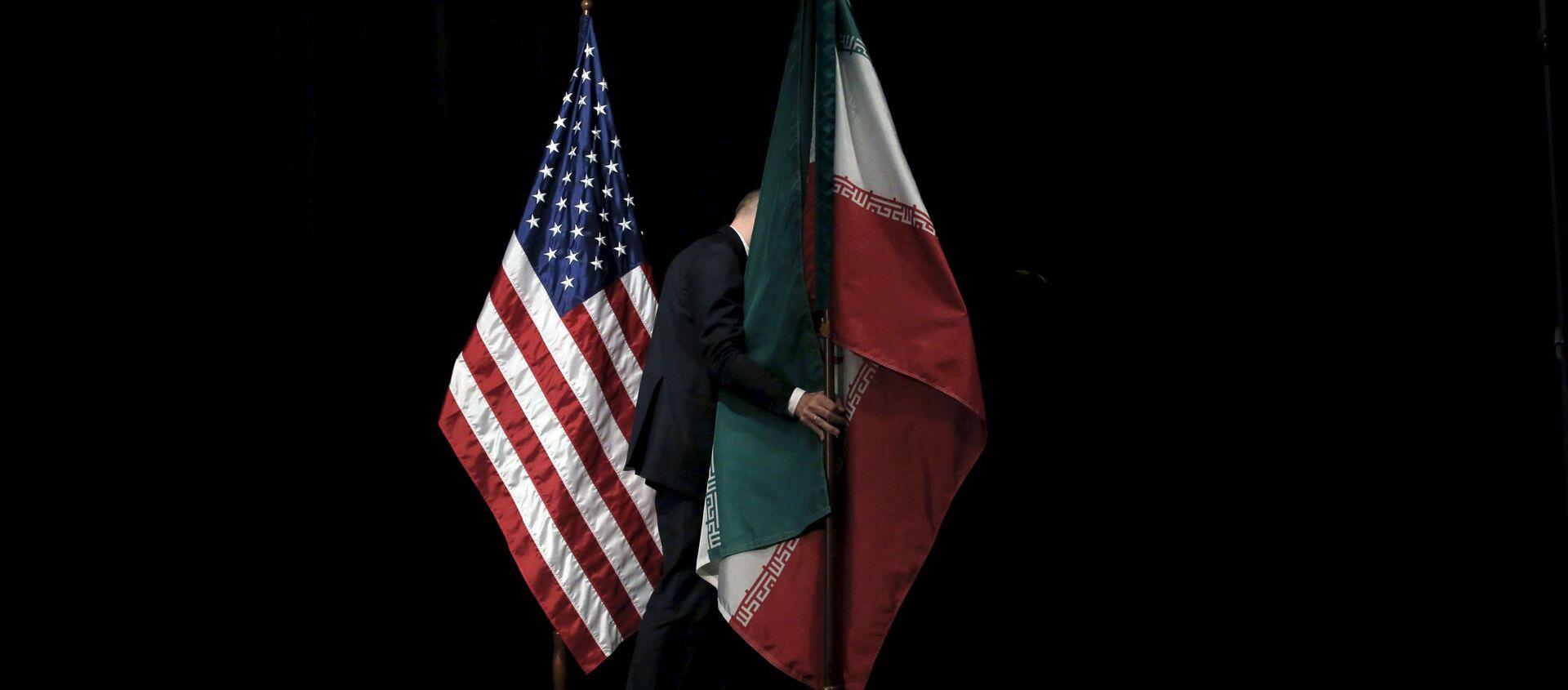 Flagi USA i Iranu w Wiedniu - Sputnik Polska, 1920, 24.12.2020