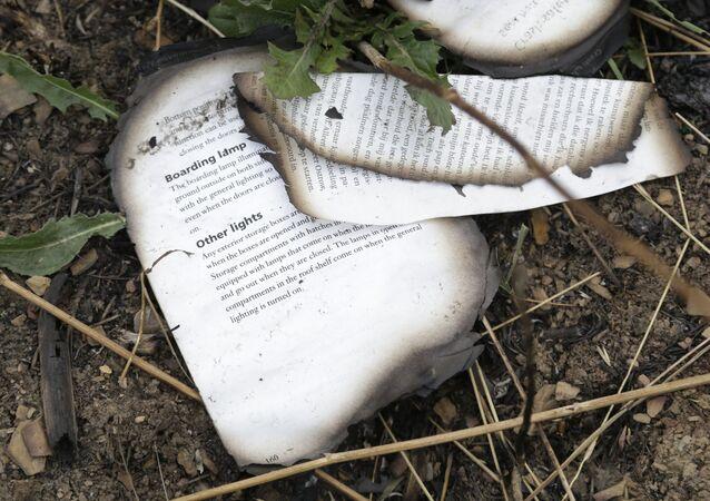 Miejsce katastrofy malezyjskiego boeinga w obwodzie donieckim na Ukrainie