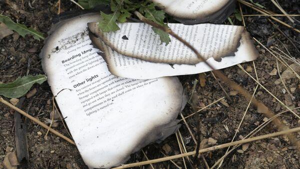 Miejsce katastrofy malezyjskiego boeinga w obwodzie donieckim na Ukrainie - Sputnik Polska