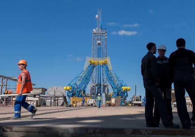 Plac budowy kosmodromu Wostocznyj
