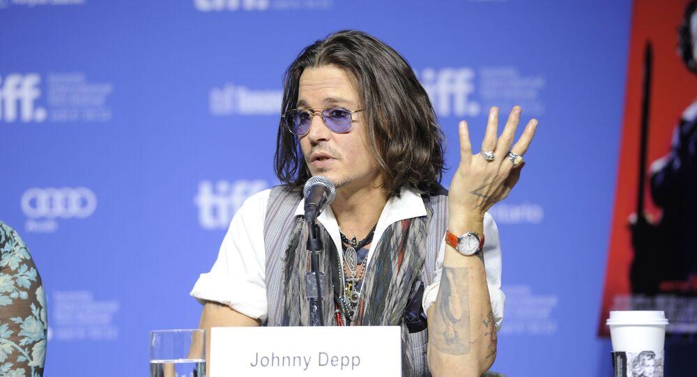 Amerykański aktor Johnny Depp