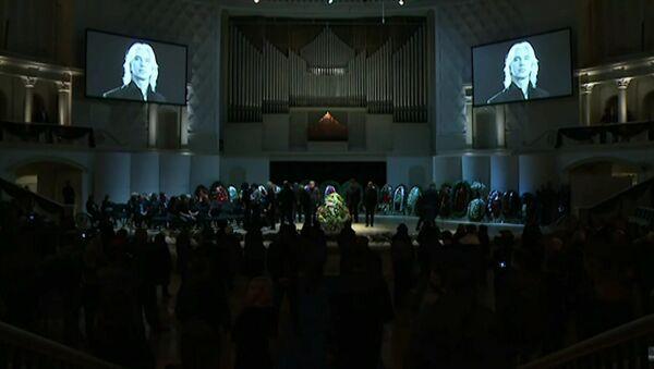 Ceremonia pożegnania Dmitrija Chworostowskiego - Sputnik Polska
