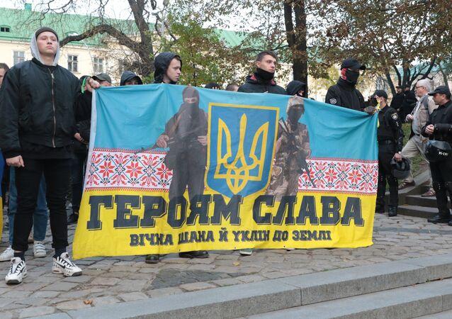 Marsz nacjonalistów we Lwowie