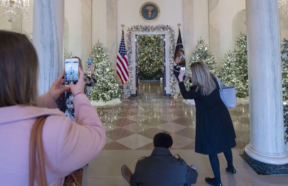 Świąteczne dekoracje w Białym Domu