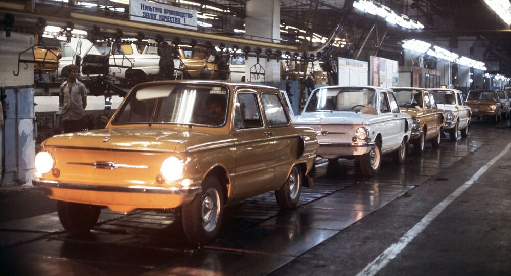 Przenośnik w Zaporoskim Zakładzie Budowy Samochodów