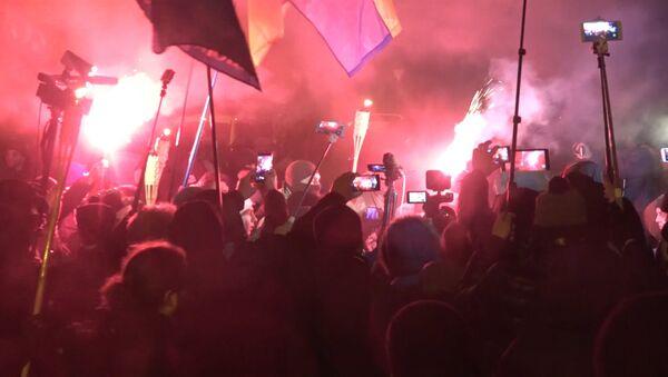 Procesja z pochodniami w Kijowie - Sputnik Polska