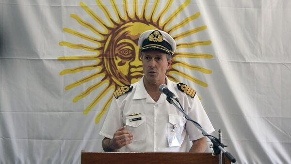Rzecznik argentyńskiej marynarki wojennej kapitan Enrique Balbi - Sputnik Polska