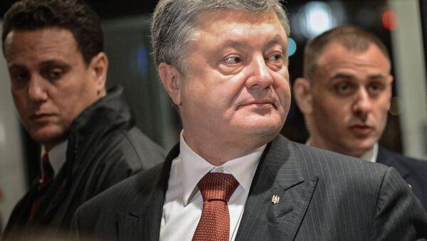 Prezydent Ukrainy Petro Poroszenko. Zdjęcie archiwalne - Sputnik Polska