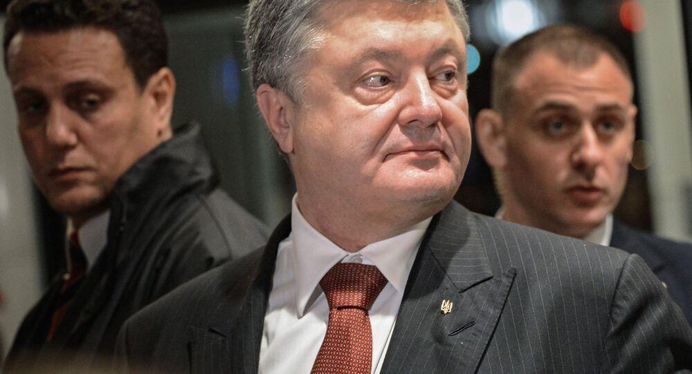 Prezydent Ukrainy Petro Poroszenko. Zdjęcie archiwalne