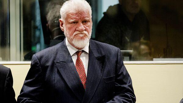 Skazany przez Międzynarodowy Trybunał dla byłej Jugosławii bośniacko-chorwacki generał Slobodan Praljak - Sputnik Polska