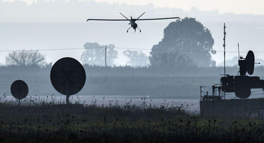 Izraelski dron nad Wzgórzami Golan