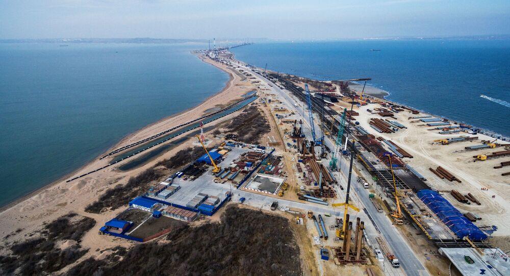 Budowa mostu na Morzu Azowskim