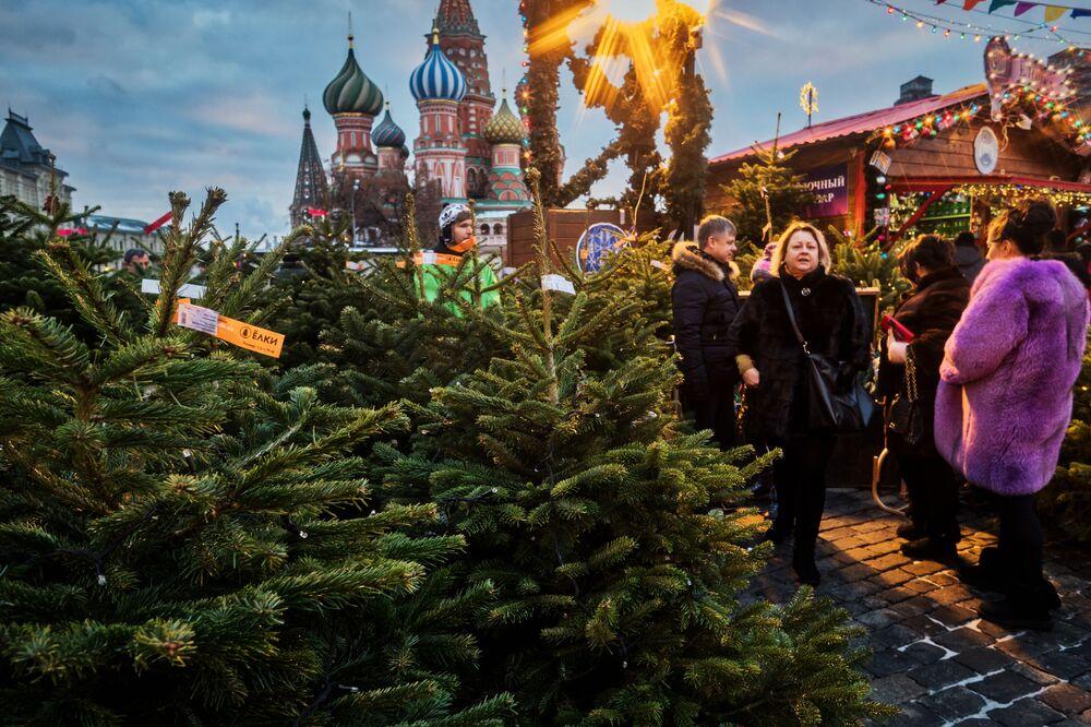 Bożonarodzeniowy jarmark na Placu Czerwonym
