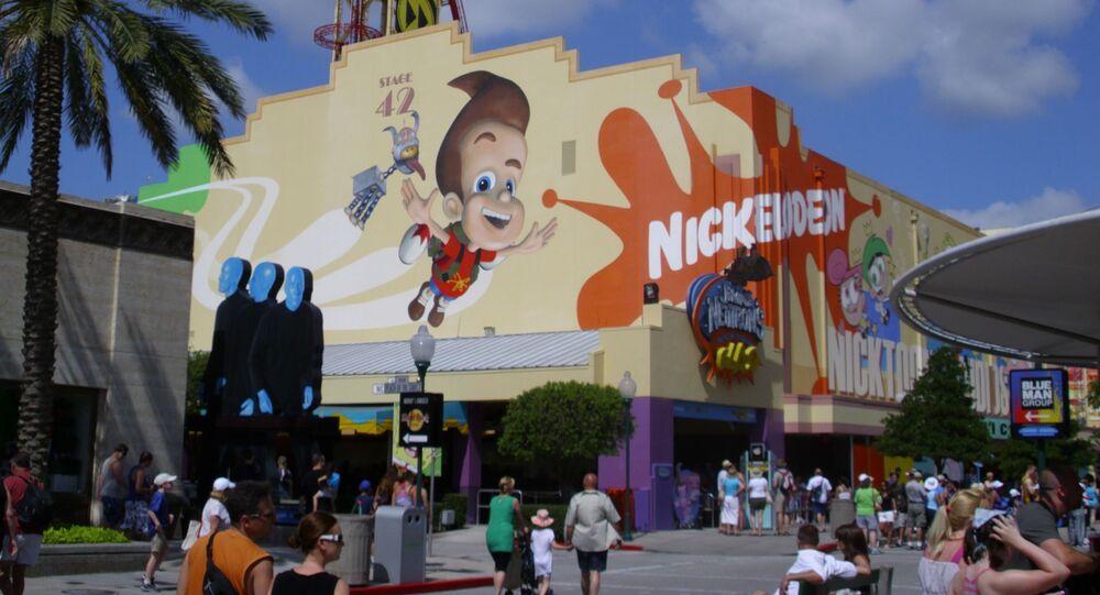 Nickelodeon na terytorium parku tematycznego Universal Studios w Kalifornii