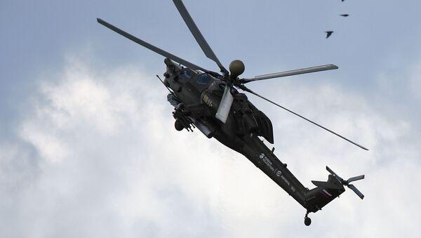 Śmigłowiec szturmowy Mi-28H na pokazie MAKS 2017 w Żukowskim - Sputnik Polska