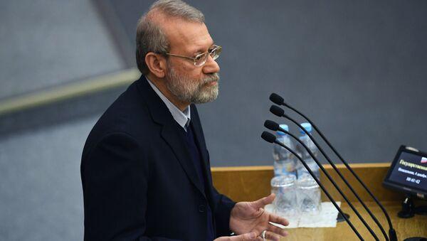 Przewodniczący Islamskiego Zgromadzenia Konsultatywnego Iranu Ali Laridżani - Sputnik Polska