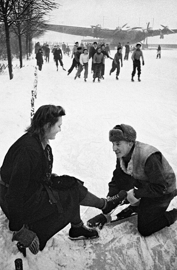 Lodowisko w Moskwie, 1939 rok - Sputnik Polska