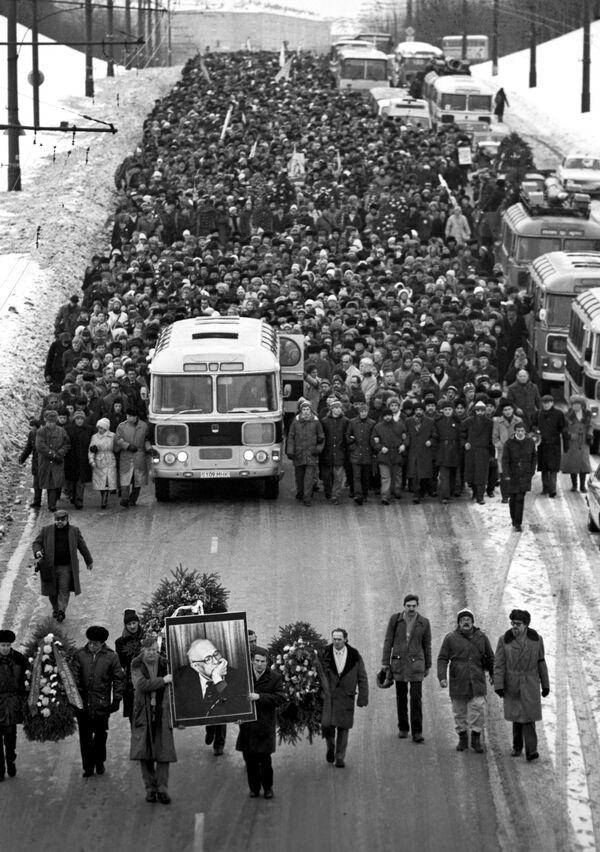 Pogrzeb Andrieja Dmitrijewicza Sacharowa, 1989 rok - Sputnik Polska