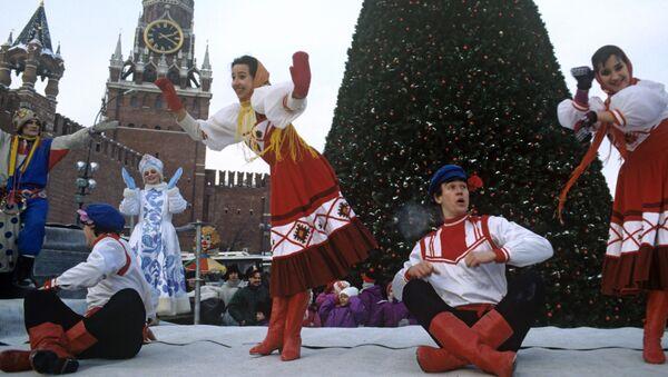 W przeddzień Nowego Roku na Placu Czerwonym, 1993 rok - Sputnik Polska