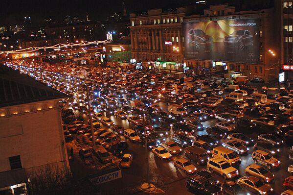 Korki w Moskwie, 2006 rok - Sputnik Polska