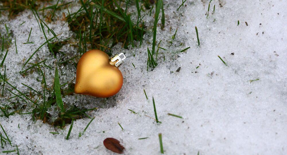 Ozdoba choinkowa na śniegu, 2015 rok
