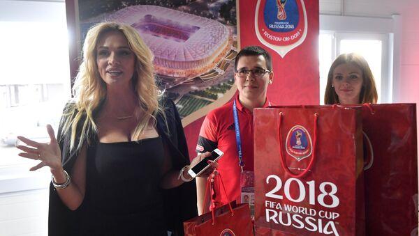 Ambasadorka Mistrzostw Świata w Piłce Nożnej 2018 Wiktoria Łopyriewa - Sputnik Polska