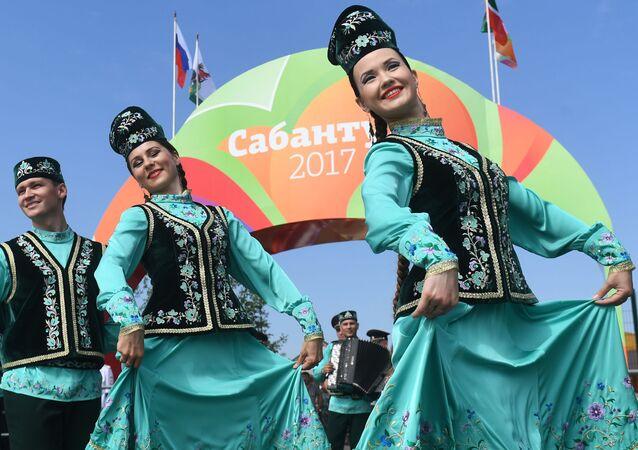 Obchody święta Sabantuj w Kazaniu